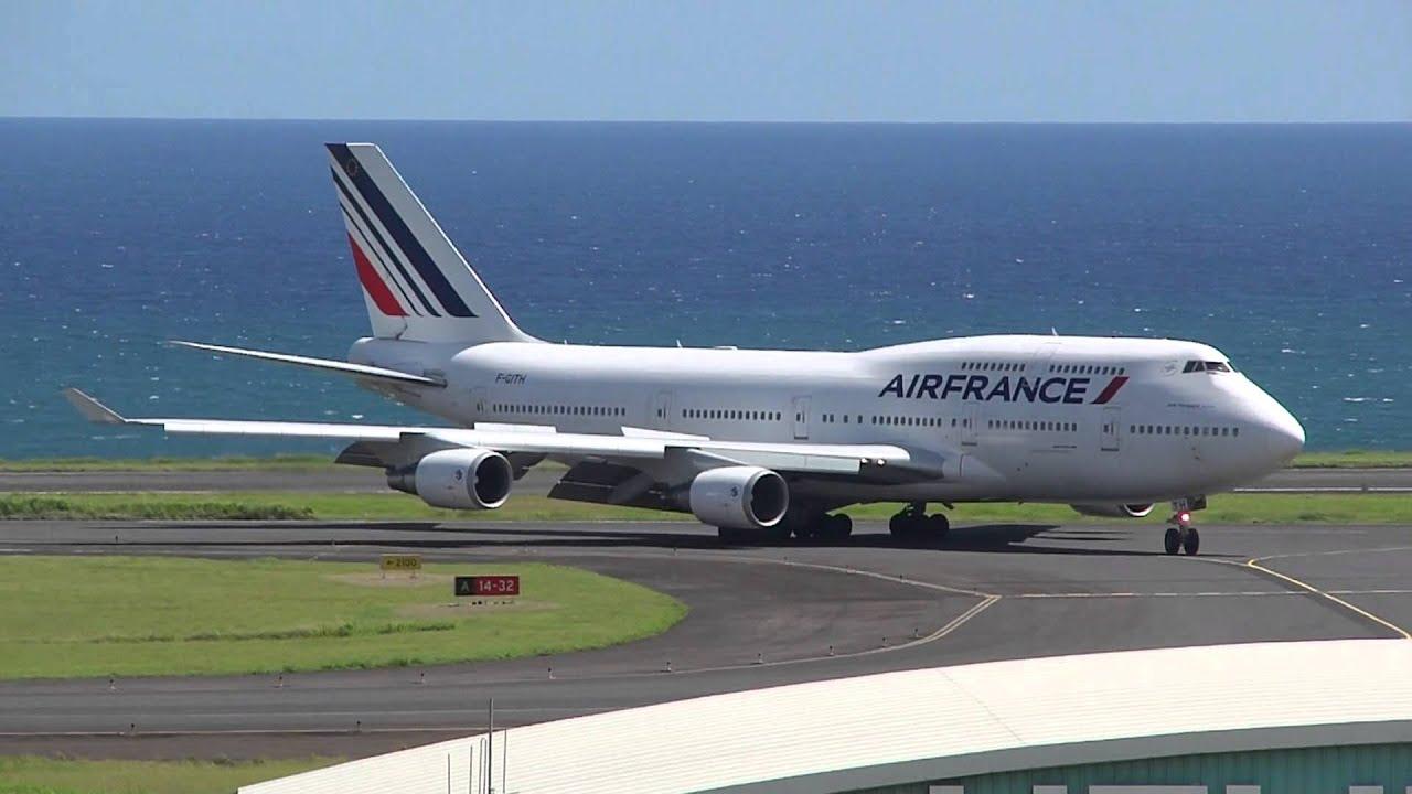 Ile de la r union arriv boeing 747 400 air france f gith for Interieur 747 air france