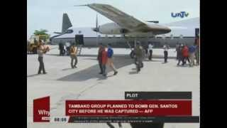 Tambako Group planned to bomb General  Santos City before he was captured – AFP