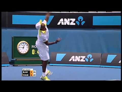 Qualifiers: James Blake V Donald Young - Australian Open 2013