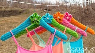 DIY Tutorial - Learn How to Crochet Clothes Hangers - Crocheted Cover for a Hanger Hangar