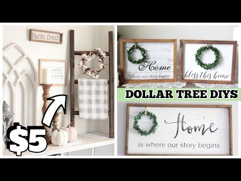 DOLLAR TREE DIY POTTERY BARN DUPES FARMHOUSE DECOR