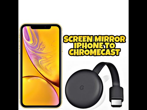 SCREEN MIRROR IPHONE TO GOOGLE CHROMECAST