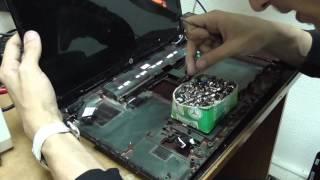 Ремонт корпуса ноутбука HP G6 часть 2