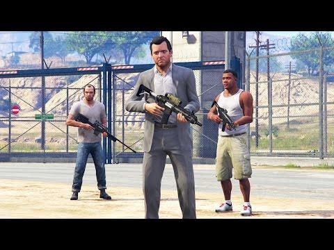 GTA 5 - PRISON BREAK! Michael, Franklin, and Trevor Escape!