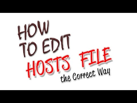 How To Edit Hosts Files For Windows XP/7/10