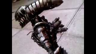 Alien Figure 40cm Metal Art Productions Scrap Parts Sculpture