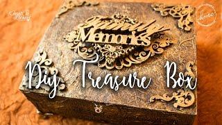 DIY Treasure box tutorial [Antique / Vintage look] Start to end video   Khyati Kothari
