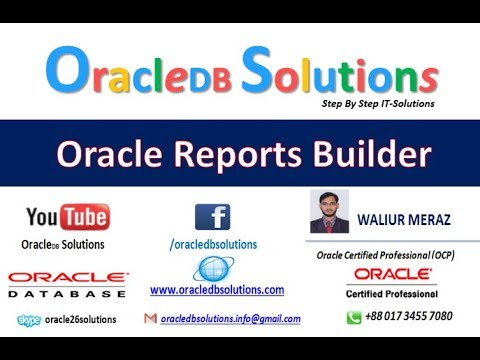 Oracle Reports |  How to  use summary column in oracle reports | Bangla R-11