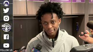 De'Aaron Fox Post Game Interview - Kings vs Timberwolves | 2018-19 NBA Season