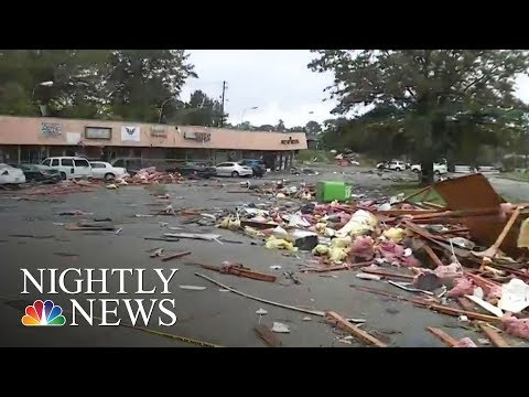 Heavy Rains, High Winds From Remnants Of Tropical Depression Cindy In Alabama | NBC Nightly News