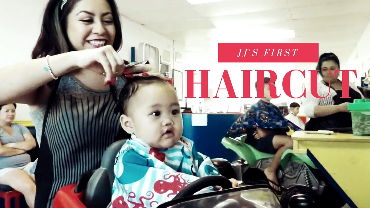 jj's first haircut! | kids fun cuts in upland california - youtube