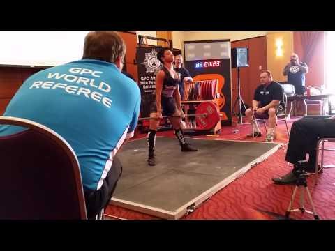 Sharon Wilkins deadlifts 160kg GPC Nats