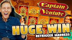 HUGE WIN!! Captain Venture Big Win - Casino Games - Slots (10€ bet)