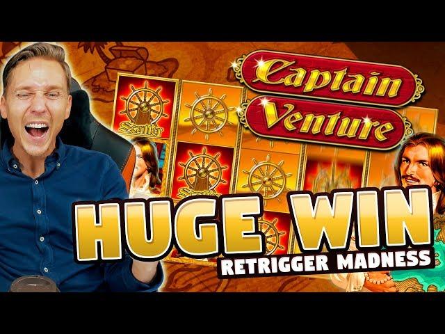HUGE WIN!! Captain Venture Big Win - Casino Games - Slots (10€ bet)