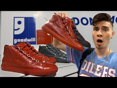 BALENCIAGA ARENAS COP'T AT GOODWILL!! 2 PAIRS | Trip to the Thrift #157