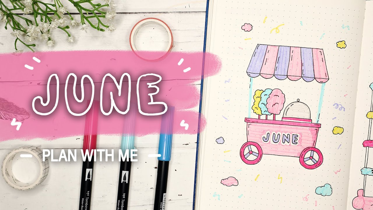 Download PLAN WITH ME   June Plan 2020 Cotton Candy Theme   Bullet Journal Indonesia