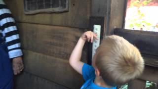 Jack's first roller coaster - the Powder Keg at Silver Dollar City
