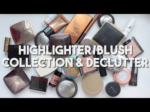 Makeup Collection & Declutter 2018 | Highlighters & Bronzers