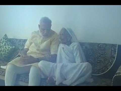 PM Narendra Modi visits mother on his birthday, seeks her blessings