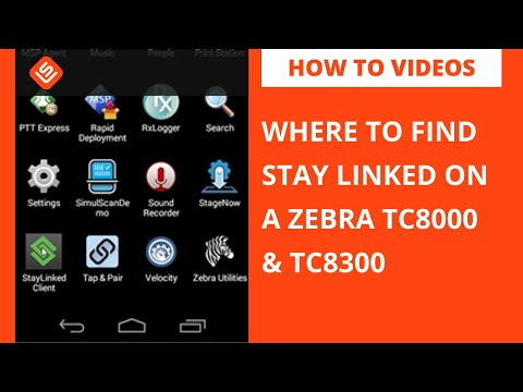 Where to find Stay Linked on Zebra TC8000/TC8300
