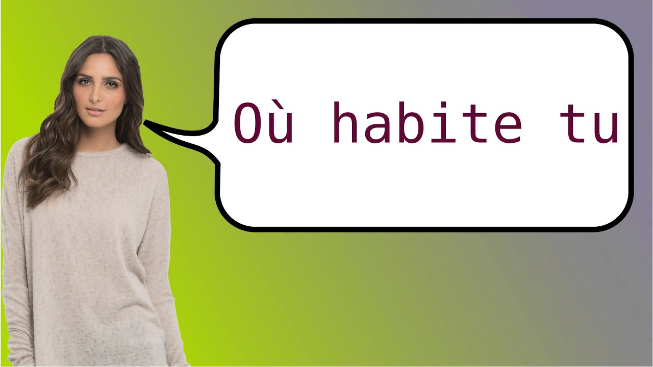 how do you say what are you saying in french