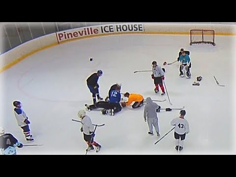 Lance Houston - Doctor Performs CPR on Player During Hockey Game