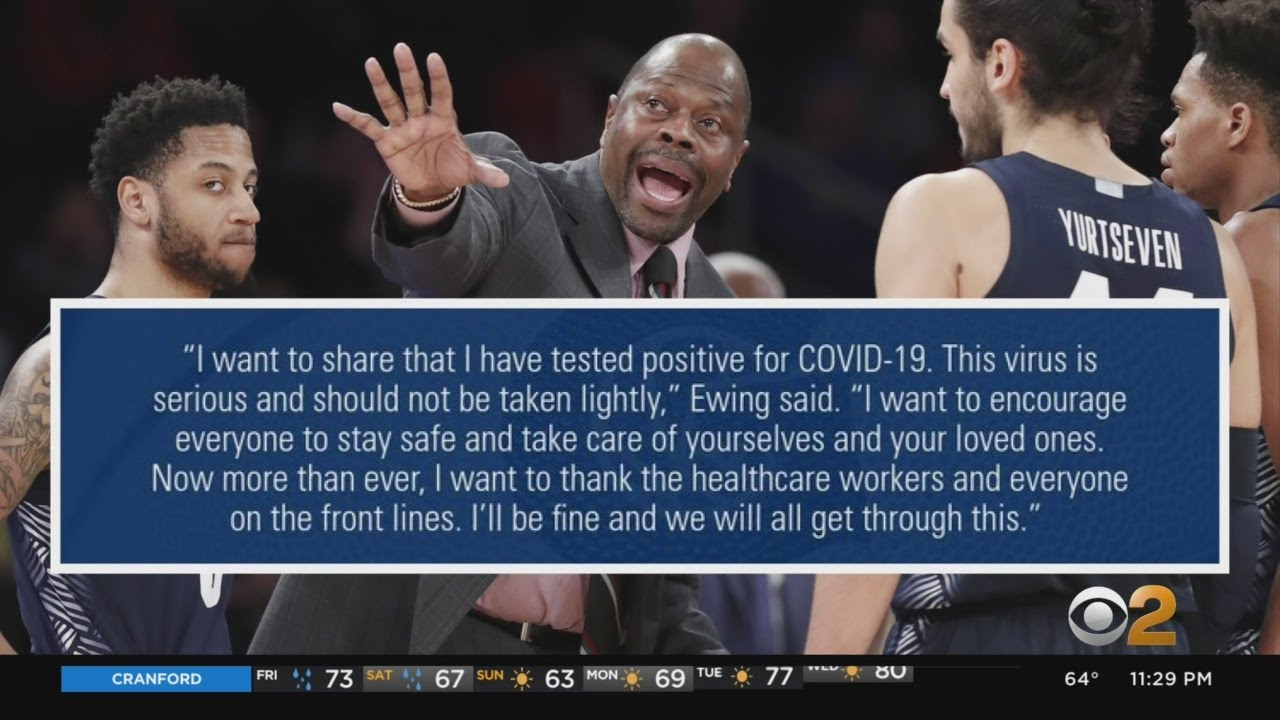 NBA Legend  Patrick Ewing Hospitalized For COVID-19