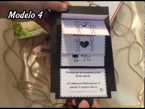 Tarjetas para bodas 5 modelos dise os divertidos youtube - Disenos tarjetas de boda ...