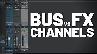 Bus vs Fx Channels in #StudioOne