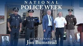 Sen. Bumstead speaks at Muskegon Police Memorial