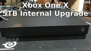 Xbox One X Scorpio 5TB Internal Hard Drive Upgrade Using Windows Script 6.1