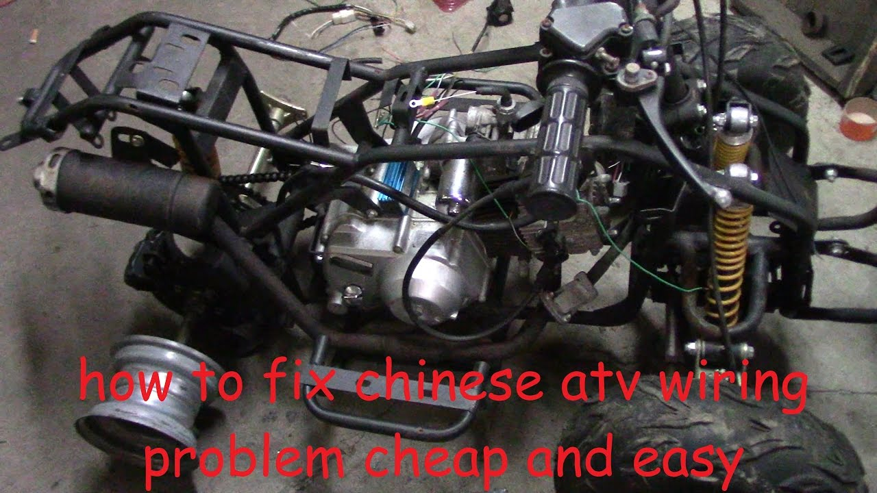 How to fix chinese atv wiring No wiring, no spark, no problem  YouTube