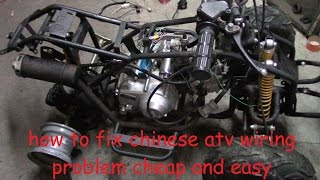 How to fix chinese atv wiring. No wiring, no spark, no problem.