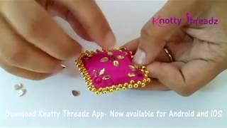 How to make Latkans for Lehengas or Blouses | Silk Thread Tassels For Skirts | www.knottythreadz.com