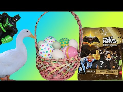 Surprise Eggs Easter Duck Party Blind Bag Superman Vs. Batman Care Bears