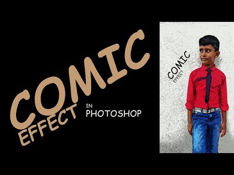 Comic effect in Photoshop || Photoshop tutorial thumbnail