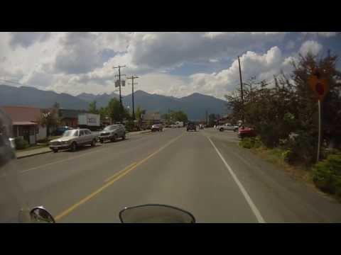 Riding into the town of Joseph, Oregon