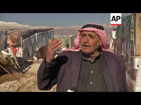 Refugees in Lebanon react to donors' conference