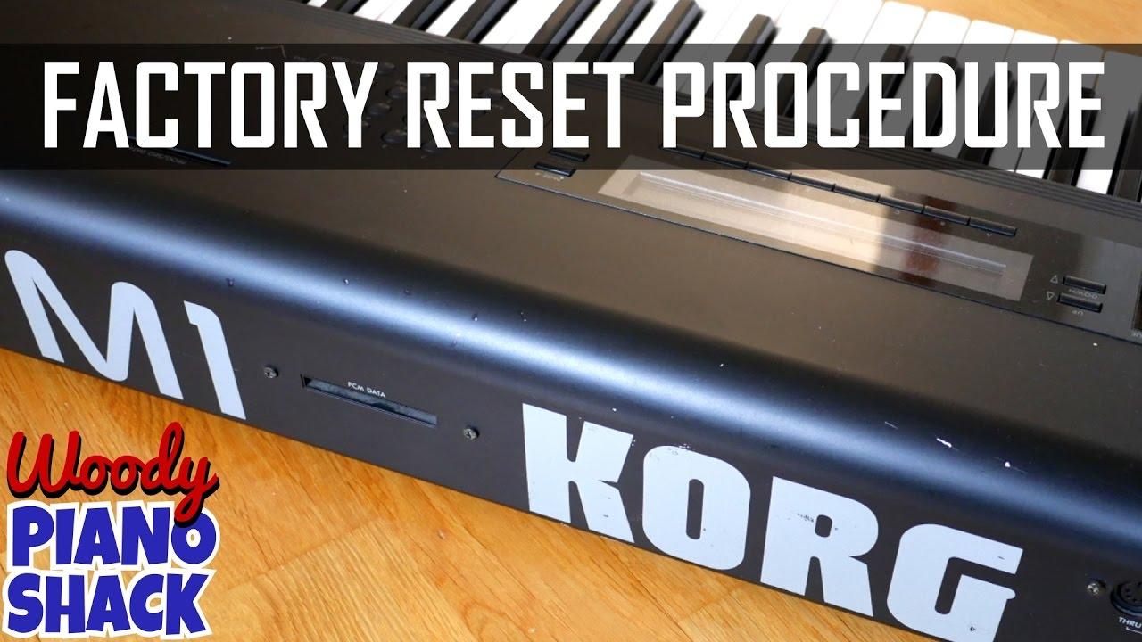 Korg M1 reset | Restore factory sounds