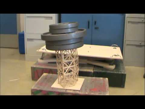 Toothpick Tower Earthquake Project Springvalley Middle School Section 7-7 Part 1