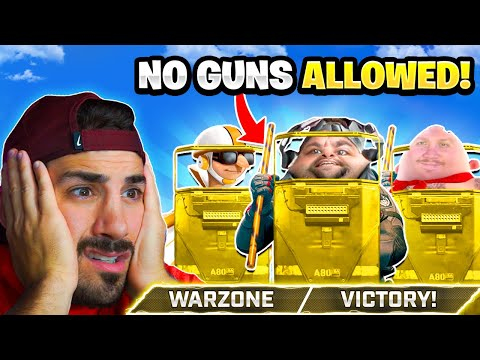The NO GUN Challenge in Warzone! 🤣 *BAD IDEA* - NICKMERCS