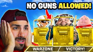 The NO GUN Challenge in Warzone! 🤣 *BAD IDEA*