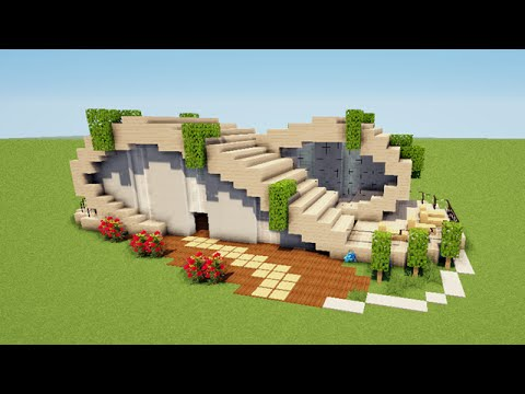minecraft tuto comment faire une maison moderne en vague