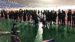 モンテディオ山形 石川竜也選手試合終了後ゴール裏でのセレモニー.