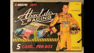 2017 Panini Absolute Nascar Racing trading cards. 1 autograph hit!