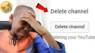 I deleted my little brothers channel..**PRANK!** (Diss Track)