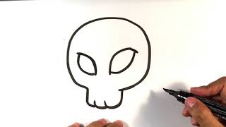 How to Draw a Female Skull - Halloween Drawings