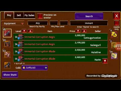 Arcane Legends Buying Immortal Aegis From Auc
