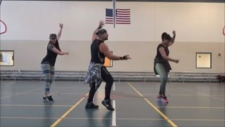 Besos a Escondidas Grupo Extra Bachata dance fitness routine