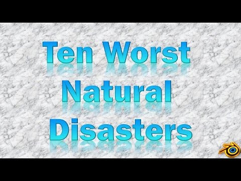 Natural Disasters List Names